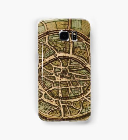 Aachen Vintage map.Geography Germany ,city view,building,political,Lithography,historical fashion,geo design,cartography,Country,Science,history,urban Samsung Galaxy Case/Skin