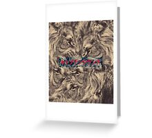 Lion Fuse Graphic with Japanese text Greeting Card