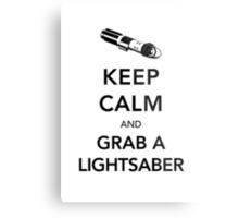 Keep Calm Lightsaber Metal Print