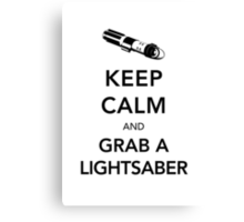 Keep Calm Lightsaber Canvas Print