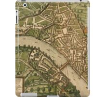 Basel 2 Vintage map.Geography Switzerland ,city view,building,political,Lithography,historical fashion,geo design,Cartography,Country,Science,history,urban iPad Case/Skin
