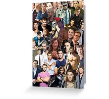 Chris Hemsworth Collage  Greeting Card