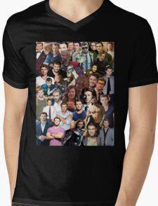 Chris Hemsworth Collage  Mens V-Neck T-Shirt