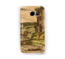 Baia Vintage map.Geography Italy ,city view,building,political,Lithography,historical fashion,geo design,Cartography,Country,Science,history,urban Samsung Galaxy Case/Skin