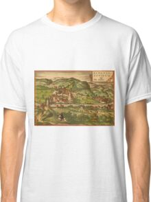 Baden Vintage map.Geography Germany ,city view,building,political,Lithography,historical fashion,geo design,Cartography,Country,Science,history,urban Classic T-Shirt