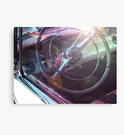 Vintage car with sun reflections Canvas Print