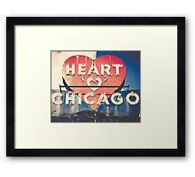 Heart of Chicago Framed Print
