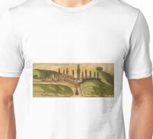 Azemmour Vintage map.Geography Morocco ,city view,building,political,Lithography,historical fashion,geo design,Cartography,Country,Science,history,urban Unisex T-Shirt