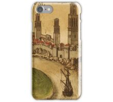 Azemmour Vintage map.Geography Morocco ,city view,building,political,Lithography,historical fashion,geo design,Cartography,Country,Science,history,urban iPhone Case/Skin