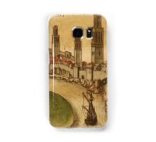 Azemmour Vintage map.Geography Morocco ,city view,building,political,Lithography,historical fashion,geo design,Cartography,Country,Science,history,urban Samsung Galaxy Case/Skin
