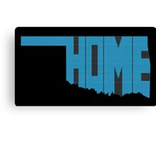 Oklahoma HOME state design Canvas Print