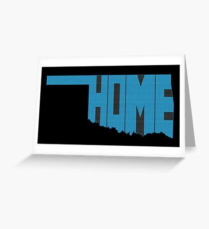 Oklahoma HOME state design Greeting Card