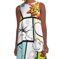 Comic Book Exclamations A-Line Dress