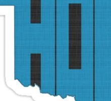 Oklahoma HOME state design Sticker