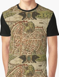 Avignon Vintage map.Geography France ,city view,building,political,Lithography,historical fashion,geo design,Cartography,Country,Science,history,urban Graphic T-Shirt
