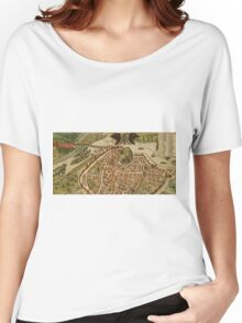 Avignon Vintage map.Geography France ,city view,building,political,Lithography,historical fashion,geo design,Cartography,Country,Science,history,urban Women's Relaxed Fit T-Shirt