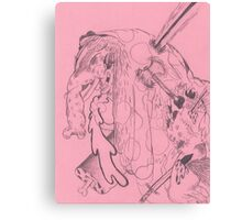 spotted war elephant Canvas Print