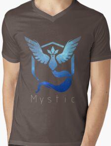 Team Mystic Galaxy Print - Thin Text (Pokemon Go) Mens V-Neck T-Shirt