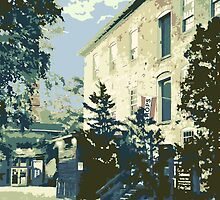 Cedar Creek Settlement & Anvil Pub - Cedarburg WI (muted) by katherinepaulin