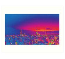 NYC Skyline Neon Art Print