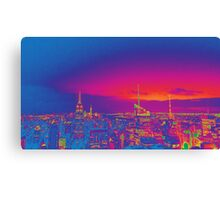NYC Skyline Neon Canvas Print