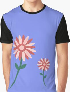 Curved tree branch with fantastic flowers Graphic T-Shirt