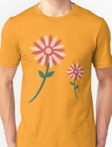 Curved tree branch with fantastic flowers Unisex T-Shirt