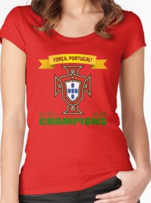 Euro 2016 Football - Team Portugal Women's Fitted Scoop T-Shirt