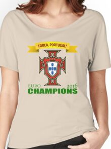 Euro 2016 Football - Team Portugal Women's Relaxed Fit T-Shirt