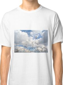 Plants close up against cloudy sky. Classic T-Shirt