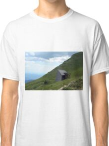 Abandoned house in the mountains with cloudy sky. Classic T-Shirt