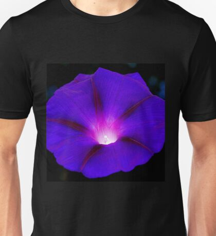 Glowing violet morning glory Unisex T-Shirt
