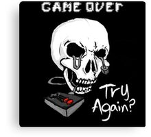 Game Over. Try Again? Canvas Print