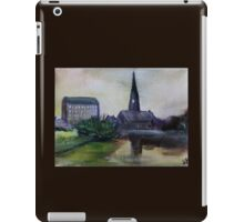 The Mill And The Church Fine Art English Countryside Acrylic Painting iPad Case/Skin