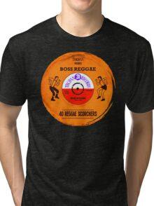 "TROJAN RECORDS VINYL "" BOSS REGGAE "" Tri-blend T-Shirt"