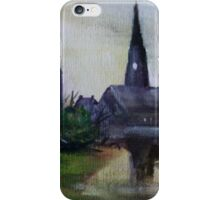 The Mill And The Church Fine Art English Countryside Acrylic Painting iPhone Case/Skin