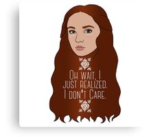 Sansa Don't Care Canvas Print