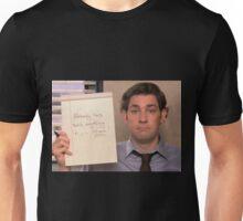 jim halpert no one has said anything in 14 min Unisex T-Shirt