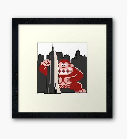 Kong attacks Empire State Framed Print