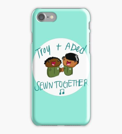 Troy and Abed Sewn Together! iPhone Case/Skin