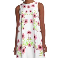 Floral Tribute of Love  A-Line Dress