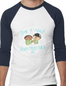 Troy and Abed Sewn Together! Men's Baseball ¾ T-Shirt