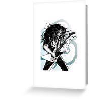 claudio sanchez coheed & cambria black and white artwrok Greeting Card