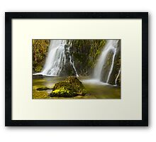 The pitchfork and the geyser Framed Print