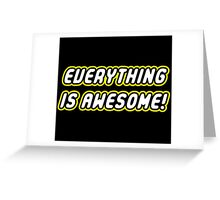Lego Everything is Awesome Greeting Card