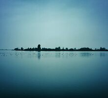 Lake in blue light by ictor