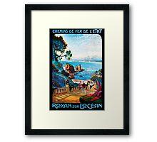 Royan sur L'Ocean, French Travel Poster Framed Print