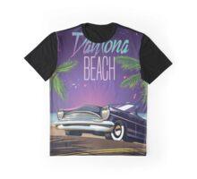 Daytona Beach,USA Vintage Car Travel poster. Graphic T-Shirt