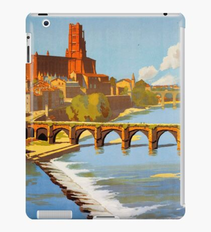 Albi, French Travel Poster iPad Case/Skin