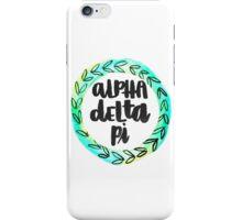 Alpha Delta Pi Flower Border  iPhone Case/Skin